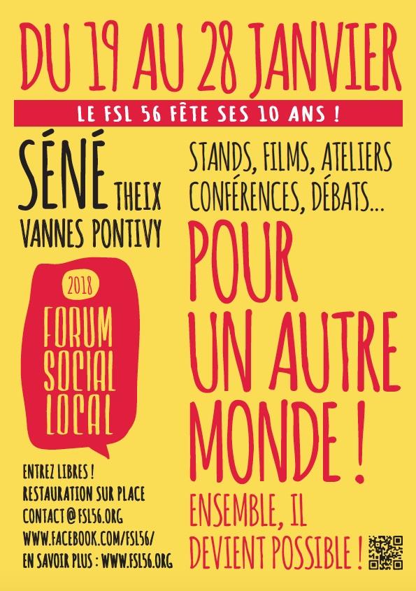Pour un autre monde : le FSL du Morbihan démarre le 19 janvier